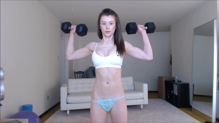 violetfoxy strong girlfriend ~  VioletFoxy ~  Amateur ~ Powerful Woman, Abs, Biceps ~  1,2 GB 15.03.2019