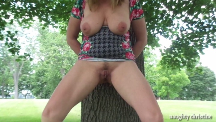 naughty christine cum covered in a public park ~  Naughty Christine ~  Amateur ~  00:08:06 ~ Slow Motion, Cumshots, Big Tits ~  1,4 GB 18.10.2019