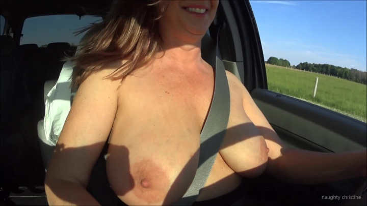 naughty christine driving topless and pedal pumping ~  Naughty Christine ~  Amateur ~  00:05:52 ~ Big Boobs, Toe Fetish ~  312 MB 18.10.2019