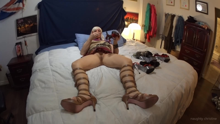 naughty christine making myself cum with stilettos ~  Naughty Christine ~  Amateur ~  00:08:35 ~ Feet, Shoe & Boot Worship ~  293,7 MB 18.10.2019