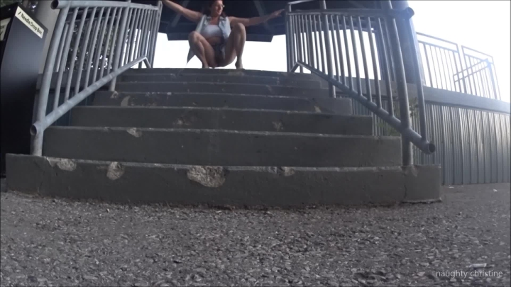 naughty christine pissing on the pavilion stairs ~  Naughty Christine ~  Amateur ~  00:06:37 ~ Public Nudity, Cock Tease, Butt Plug ~  221,3 MB 18.10.2019